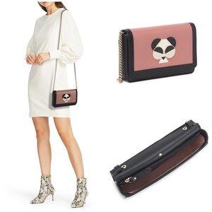 Kate Spade Gentle panda chain crossbody wallet